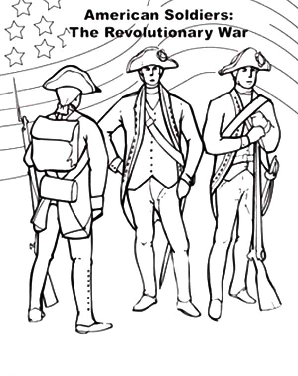 USA Flag on Revolutionary War for Independence Day Event