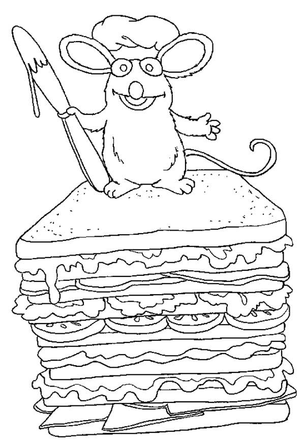 Pages It S A Sandwhich Coloring Pages