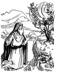 Moses And The Burning Bush Coloring Page - ideasplataforma.com