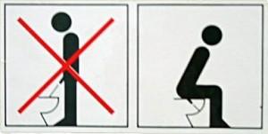 Esta imagen se puede encontrar en muchos inodoros en Alemania