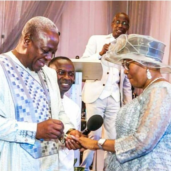 Mahama renews his marriage vows