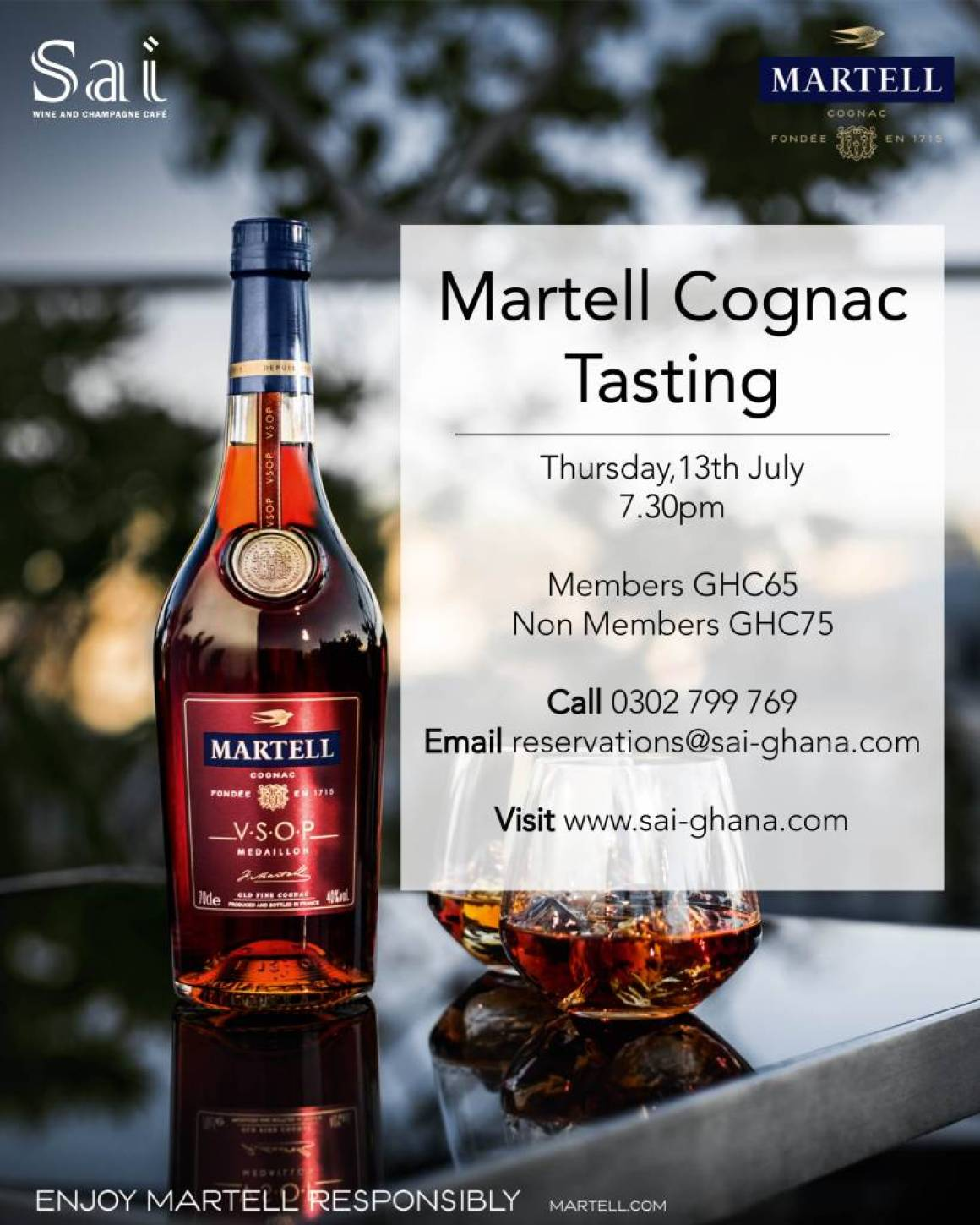 Martell means Congnac at Sai Wine tasting session this Thursday