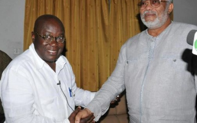 President Akufo-Addo Offers Ex-President Rawlings sanitation job