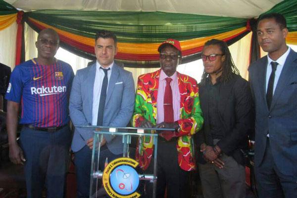 Ex-Barca stars under attack over Mugabe rally