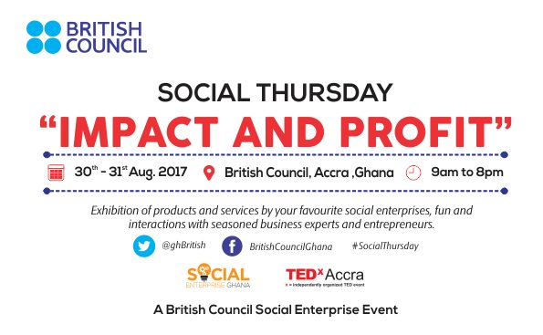 British Council Ghana announces 'Social Thursday' event