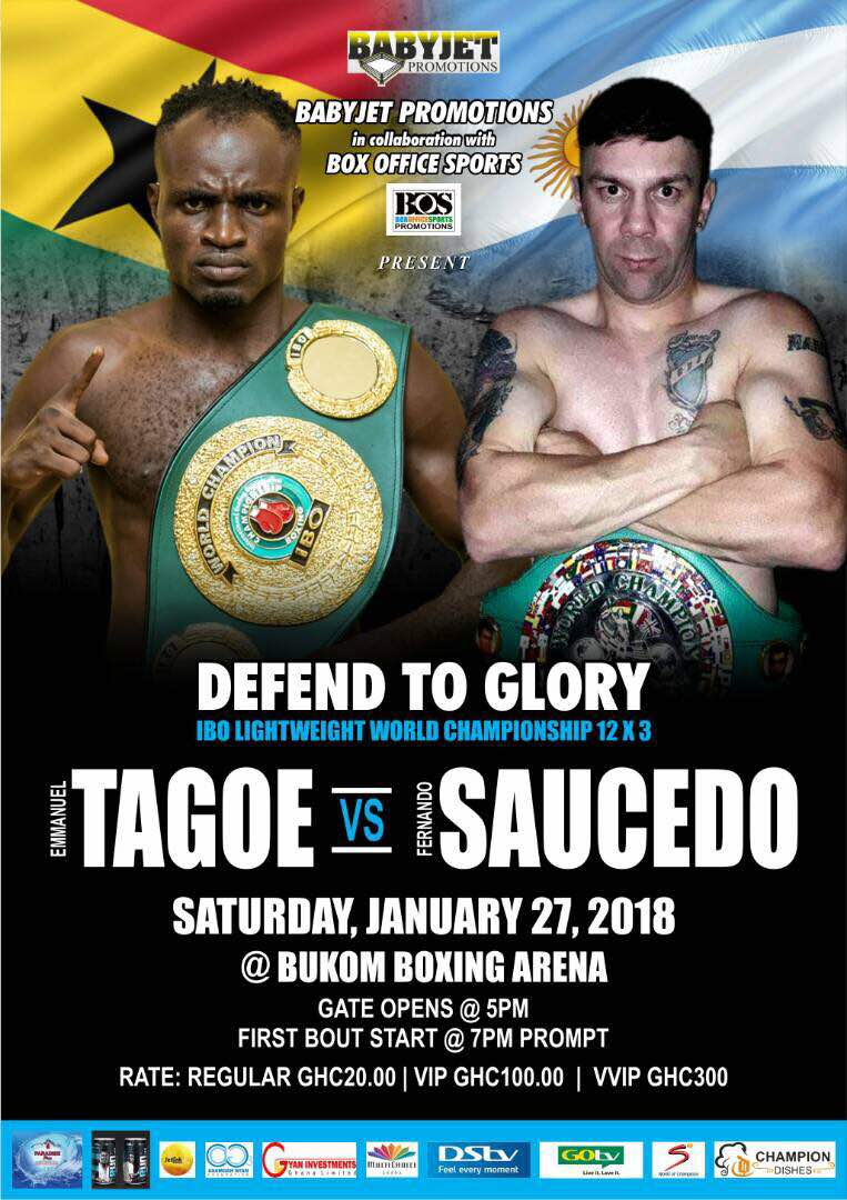 Defend to Glory: Emmanuel Tagoe faces Saucedo for IBO lightweight title