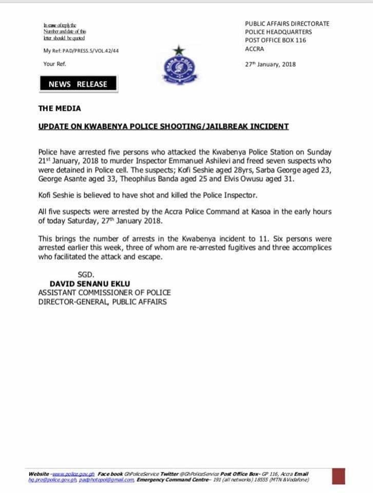 Kwabenya Police Station Attack: Mastermind behind plot identified