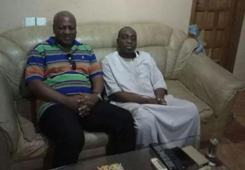 Mahama visits sick Bawumia