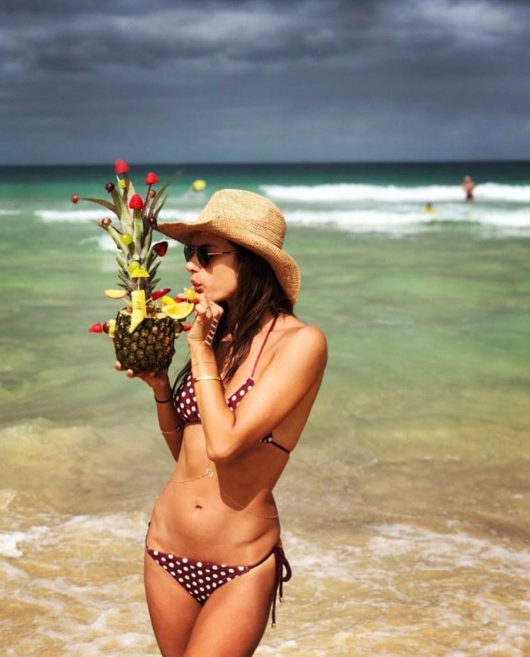 Alessandra Ambrosio Flaunts Her Bikini On Vacation