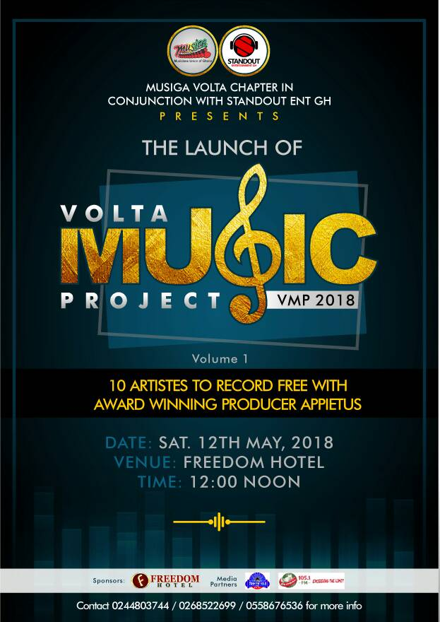 Volta Music Project Appietus To Produce 100 Songs for 10 Regions