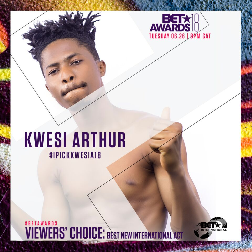 My BET nomination has united Ghana's music industry - Kwesi Arthur