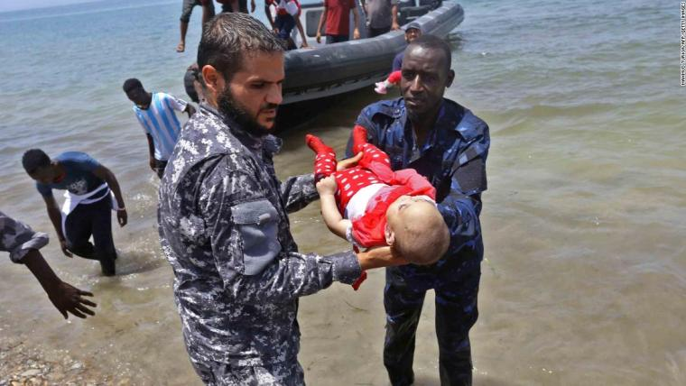 3 babies among 100 dead off Libya as Europe hails new migrant deal