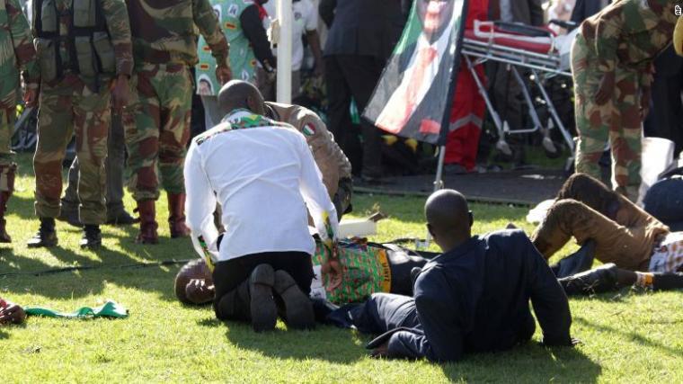 Zimbabwe: Blast rocks stadium in apparent assassination attempt on President