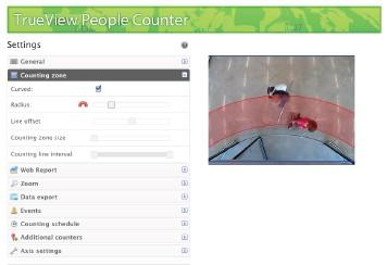 Netcam Business Intelligencia Video analytics  cognimatics Trueview screen