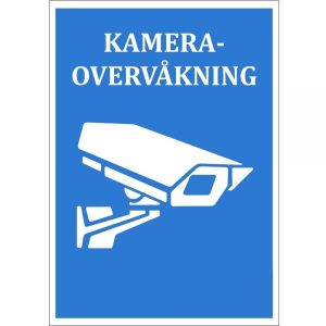 Netcam Kamera Skilt A7 A5 SKI-ALU-A4-BLA-x