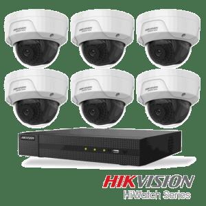 Netcam Hikvision pakke med 6 kameraer IP 4 megapixel & opptaker