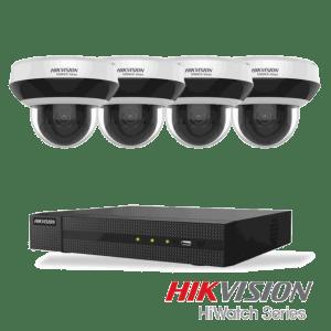 Netcam Hikvision pakke med 4 kameraer 4 megapixel styrbart zoom