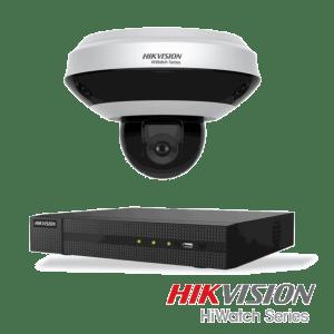 Hikvision Netcam pakke med 2 IP kameraer 2MP panorama 360º og opptaker