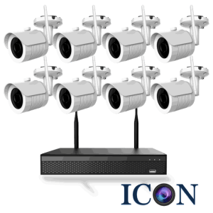 Netcam trådløs Wi-Fi 2MP pakke 8 kameraer og opptaker 2TB