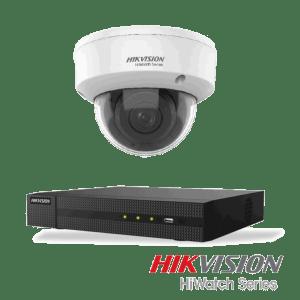 Netcam Hikvision pakke med 1 kamera analog utendørs 8 megapixel zoom & opptaker
