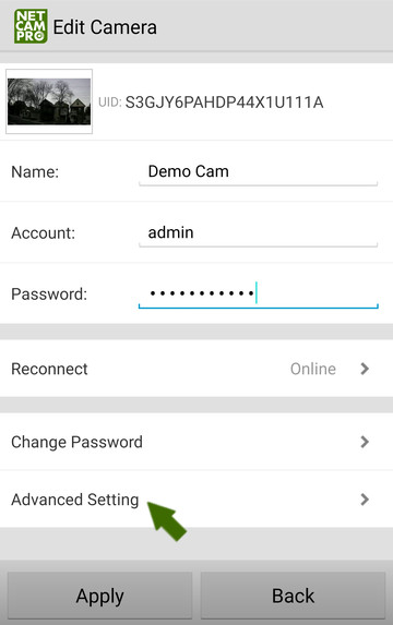 NetCamPro Find Your IP Android