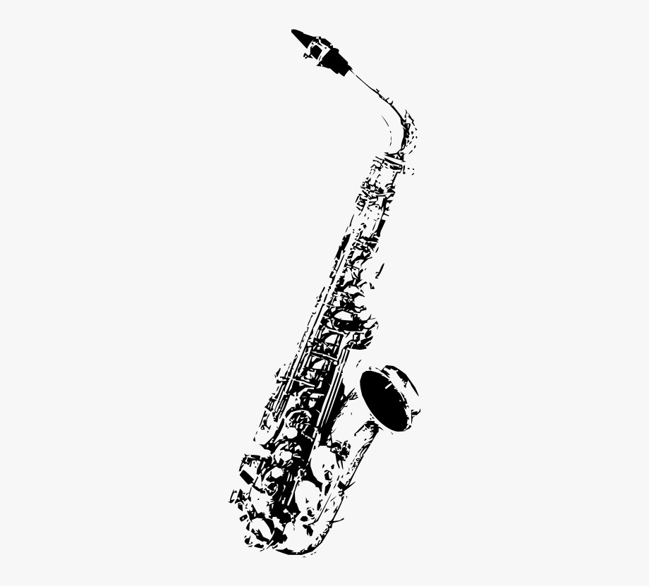 Saxophone Black And White Png , Transparent Cartoon, Free