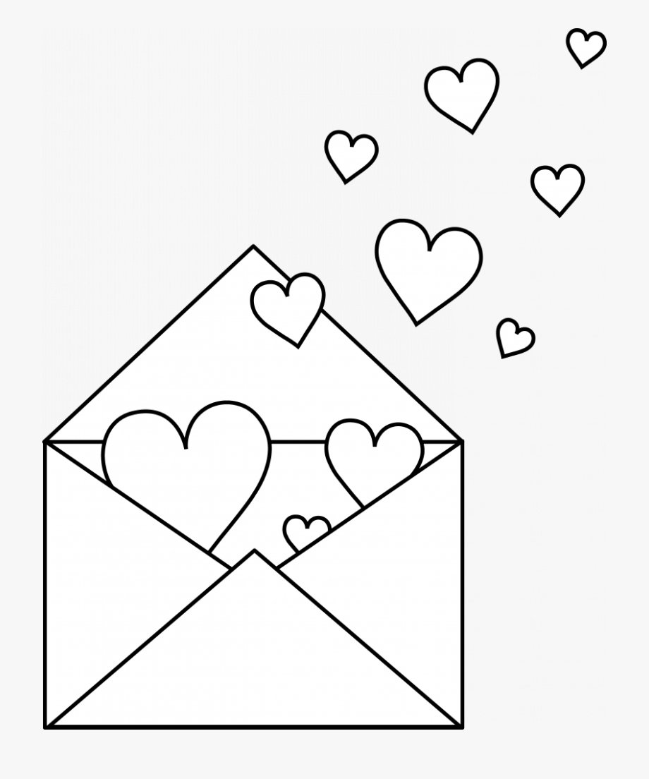 Love Letter Coloring Pages , Transparent Cartoon, Free
