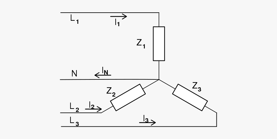 A Three-phase Electric Power Load Connected In Y Formation