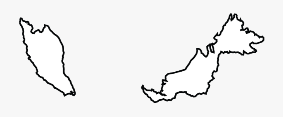Map Of Malaysia Terrain Area And Outline Maps Of Black