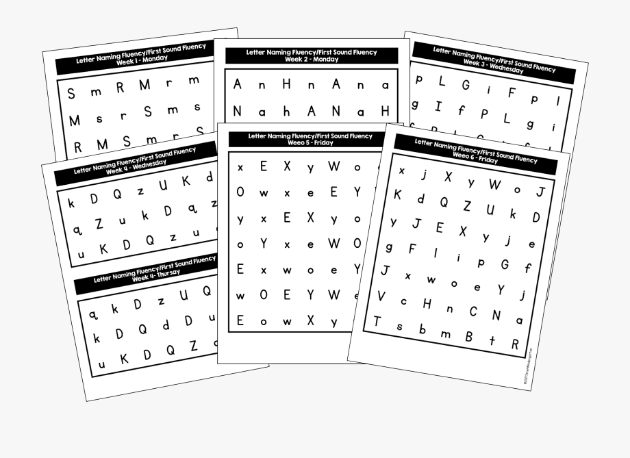First Sound Fluency Practice Pages , Transparent Cartoon
