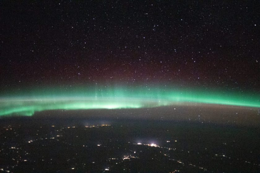 Dawn over Russia, between Ukraine and Kazakhstan.  Image: Roscosmos