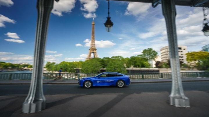 Toyota Mirai en un viaje de hidrógeno