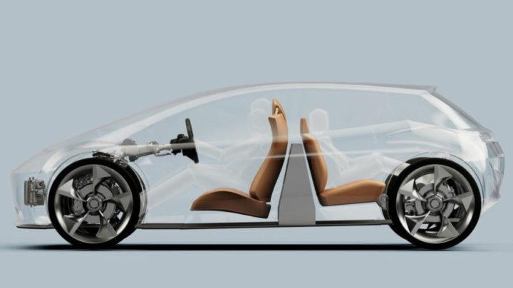 Batería dispuesta verticalmente en el coche eléctrico de Page-Roberts