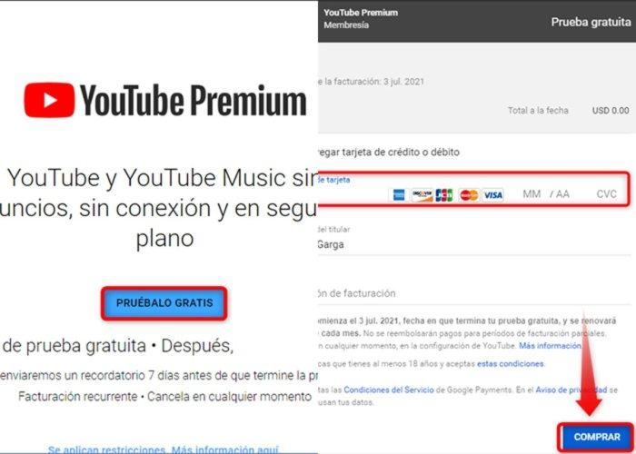 Cómo probar YouTube Premium gratis