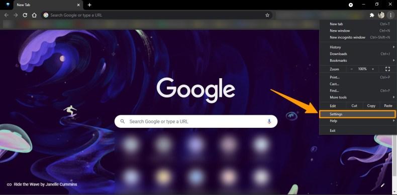 Abrir la configuración del navegador
