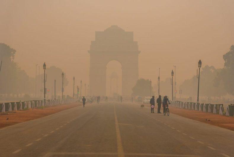 Contaminación en Nueva Delhi, capital de India, en foto 2019