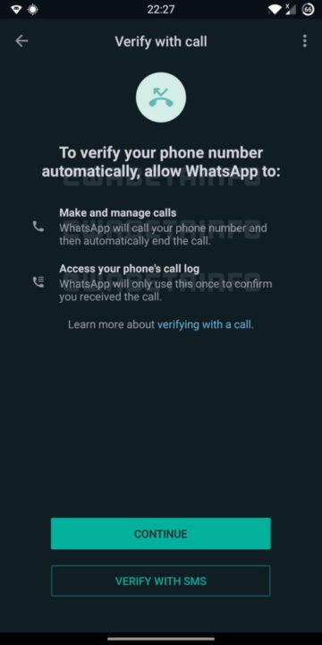 Validación de seguridad de llamadas de WhatsApp