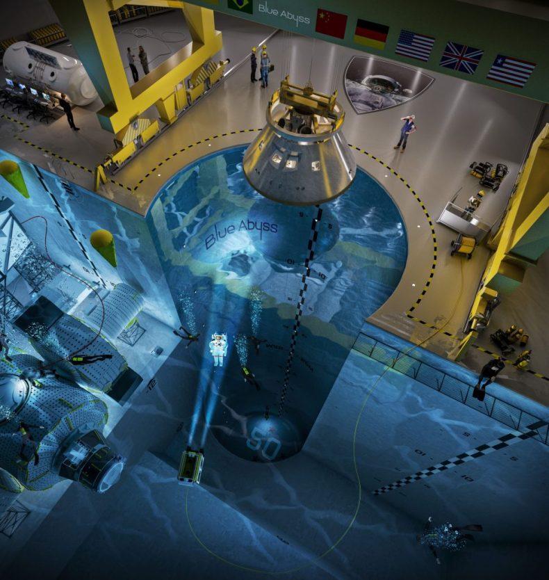 Los astronautas entrenarán en la piscina más grande del mundo