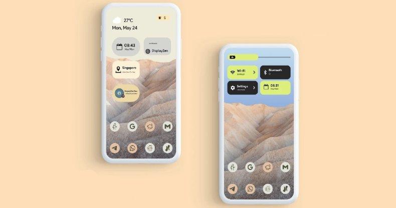 Widget de Android 12