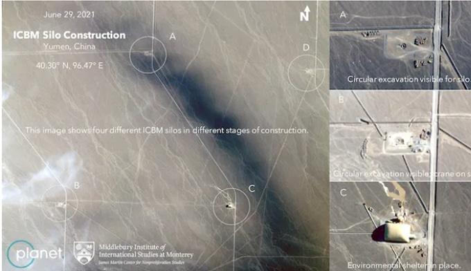 Fotos satelitales muestran silos en China