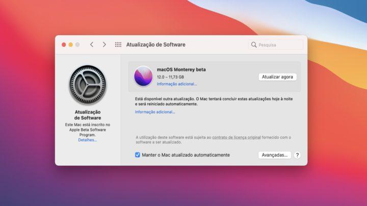Sistema beta de Apple macOS Monterey