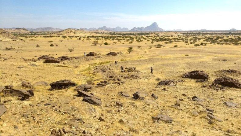 Área de la tumba en Sudán