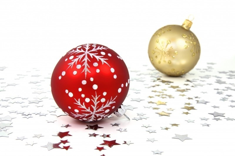 decorative-christmas-baubles-on-white-background