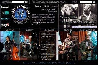 Music venue web site