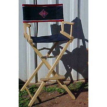 customized directors chair with arms kr s custom horse show bar height equestrian in