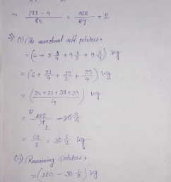Selina Concise Class 7 Math Chapter 3 Fraction (Including Problems)  Exercise 3E Solution [ 1221 x 709 Pixel ]
