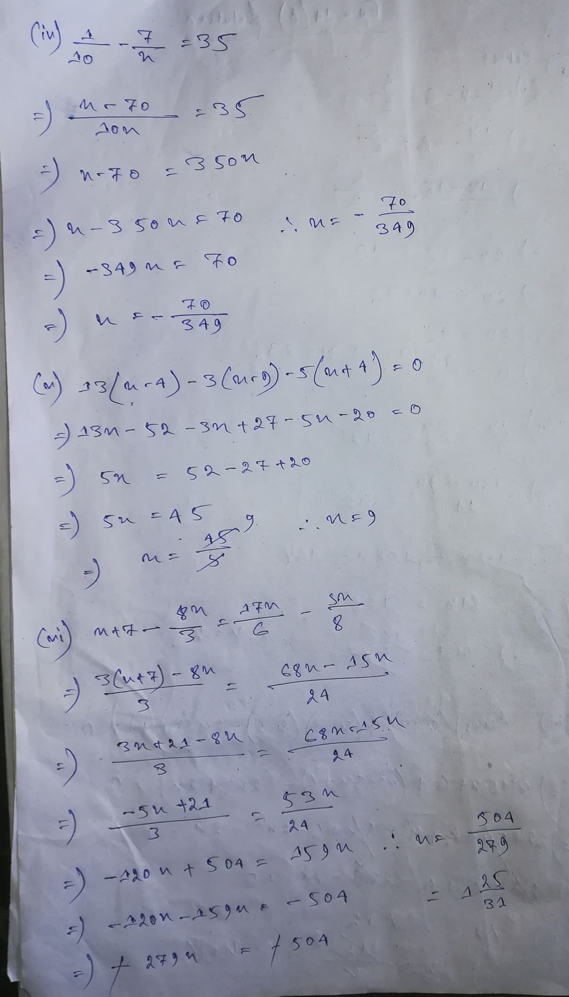 Selina Concise Class 8 Math Chapter 14 Linear Equations In