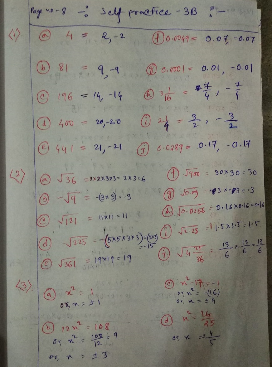 hight resolution of New Learning Composite Mathematics Class 8 SK Gupta Anubhuti Gangal Squares  and Square Roots