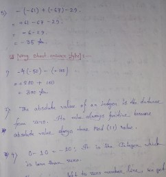 Integers Extra Questions Solution for Class 6 CBSE / NCERT Board Students [ 1064 x 751 Pixel ]