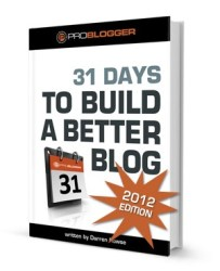 31 Days to Build a Better Blog Book Cover